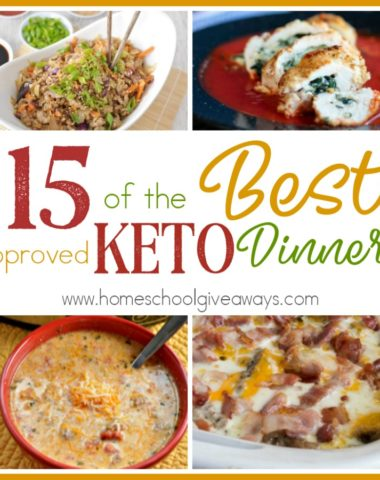 One of the most common complaints about the Keto diet is that people on a diet feel like they have to give up their favorite foods just to lose weight! This couldn't be further from the truth! Check out these 15 approved dinners! #KETO #ketorecipes #ketolife #ketodiet #lowcarb