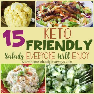 Sticking to a KETO diet is easy when you have these delicious salads to eat! They are so easy to whip up ahead of time for lunches, or for an easy dinner when you don't want to do a lot of cooking. #hsgiveaways #Keto #KetoSalads #healthy #healthyeating