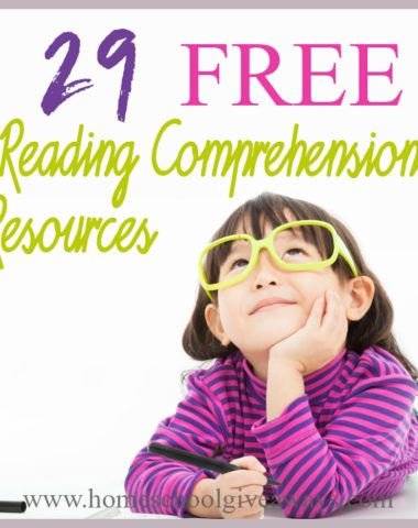 Teaching your child to read is just the first step. They also need to learn how to process the words, understand their meaning and reconcile them to what they already know. This is called Reading Comprehension. Check out these FREE Resources to help you get started! #reading #homeschoolers #homeschooling #hsmoms