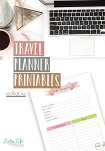 Travel-planner-printables