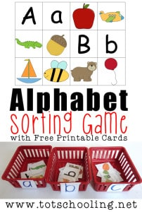 alphabet sorting game