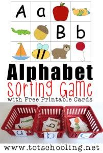 alphabet sorting game