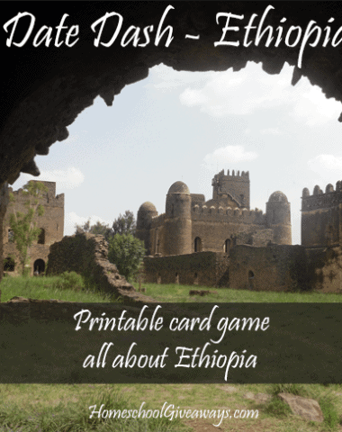 FREE Date Dash Ethiopia - History Card Game