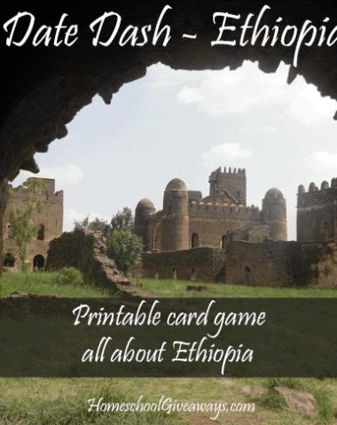 FREE Date Dash Ethiopia - History Card Game
