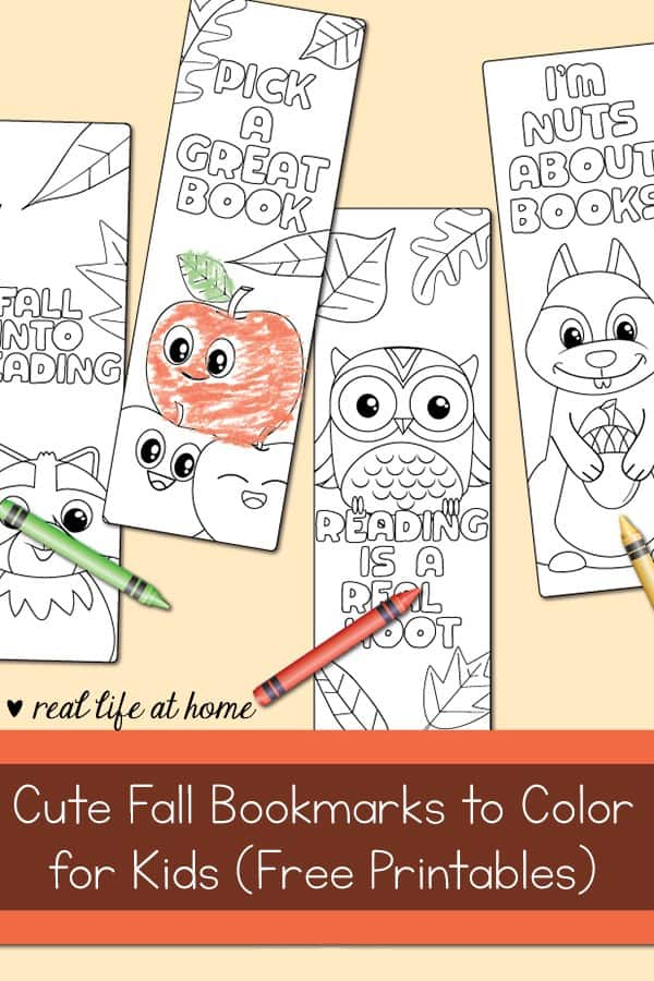 free printable adorable fall bookmarks for kids
