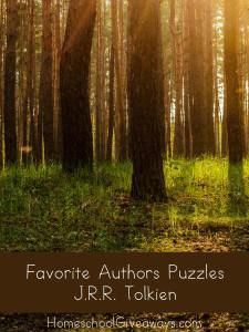 Favorite Authors Puzzles - JRR Tolkien