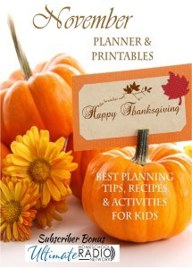 November Homeschool Printable Subscriber Bonus