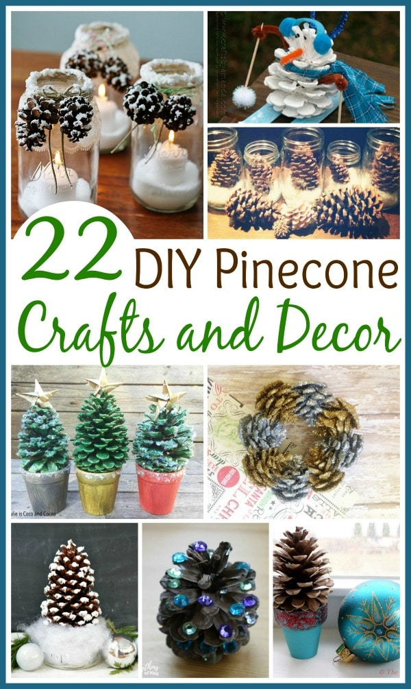 With winter just around the corner, here are some pincecone crafts your kids can make and some décor you can put up around the house. #pinecones #winter #crafts #diy
