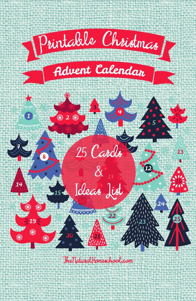 Free Printable Christmas Trees Advent Calendar Homeschool Giveaways