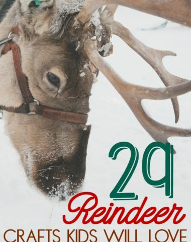 """Whether your kids love the movie """"Rudolph the Red-nosed Reindeer"""" or you just need some fun crafts for Christmas, these are sure to make them smile! #Christmas #reindeer #kids #crafts"""