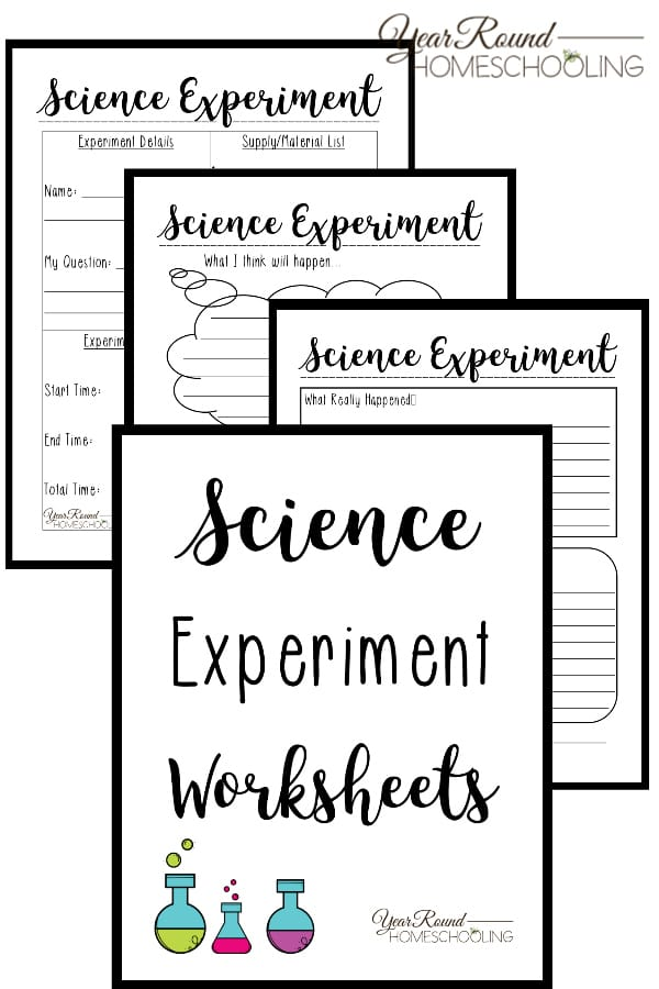 FREE Printable Worksheets for Science Experiments ...