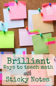 Teach-math-with-sticky-notes