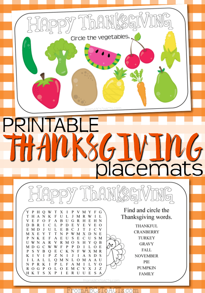 Thanksgiving-Placemats