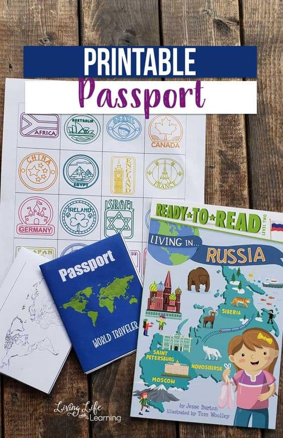 picture relating to Printable Passports for Kids titled Totally free Printable Little ones Pports for Place Research