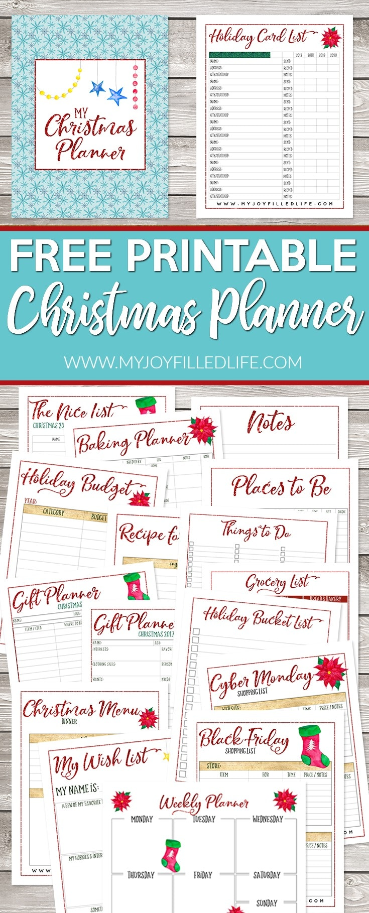 photograph regarding Free Printable Christmas Planner referred to as No cost Printable Planner for Christmastime - Homeschool Giveaways
