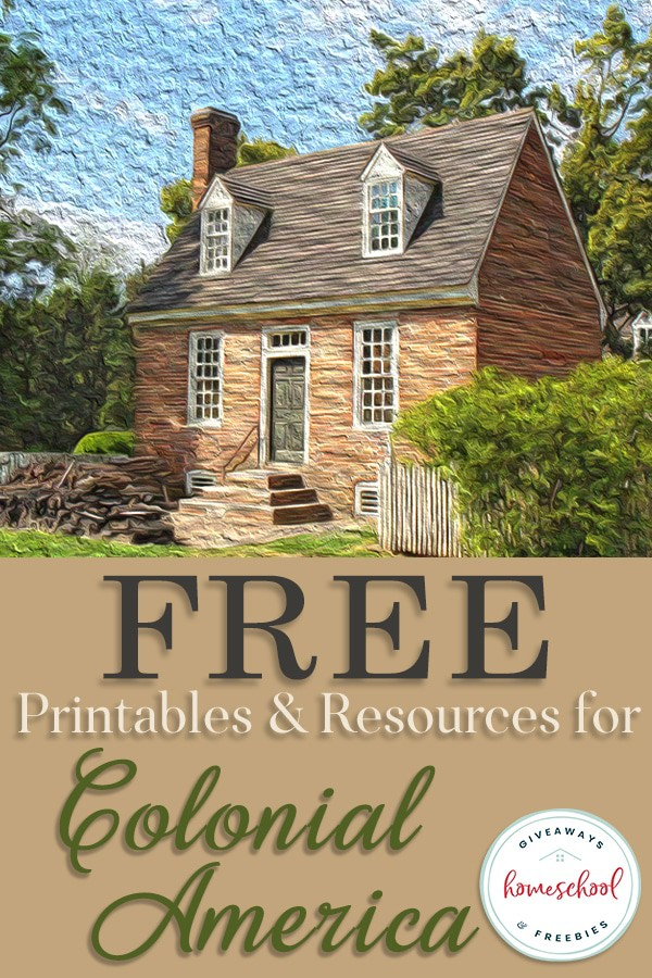 If you're studying the Colonial America era, these FREE Printables and Resources may come in handy. From word searches to quizzes to games and more, you'll find everything you need to make a complete unit study on Colonial America. #history #America #Colonialera #colonies