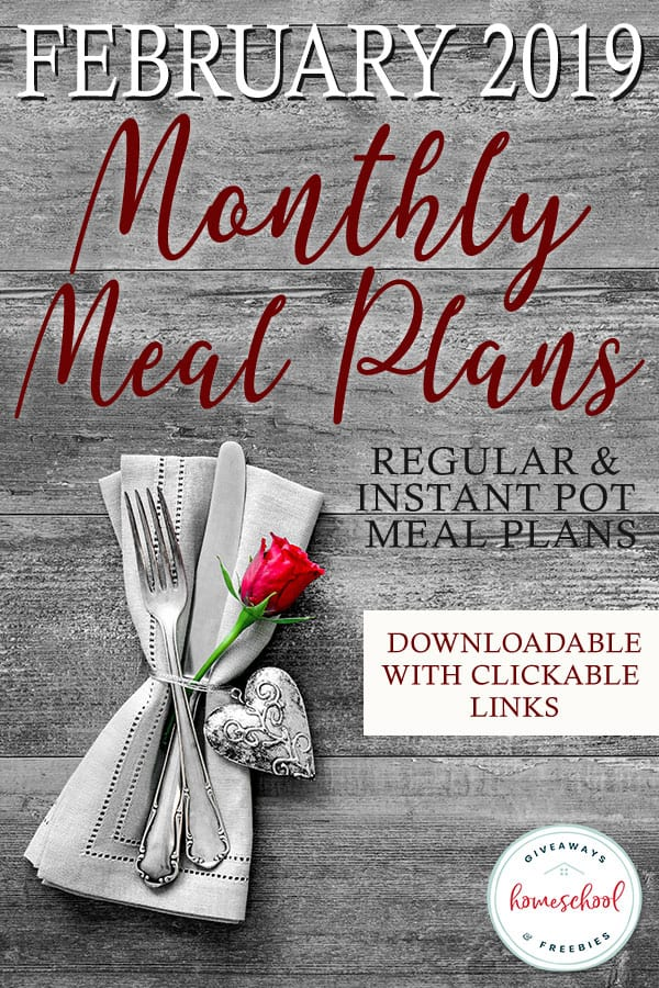 Trying to stay on budget this year? Want to save money on your groceries? Our February meal plans are the perfect way to do just that!Choose from two downloadable meal plans with clickable links! #mealplans #menuplan #family #instantpot