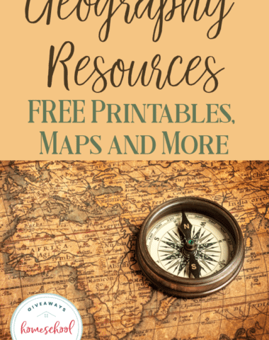 Homeschooling doesn't have to be expensive. These FREE printables, maps and other resources will help you teach Geography in your home! #geography #homeschool #homeschooling #hsprintables