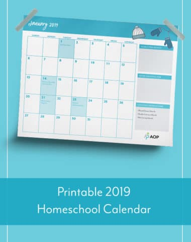 Printable 2019 Homeschool Calendar
