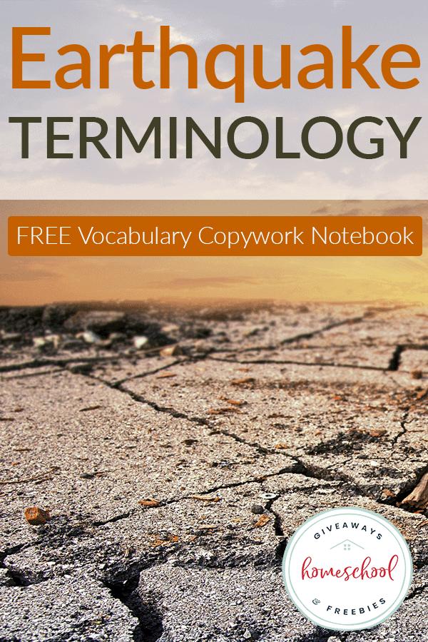 FREE Earthquake Terminology Copywork Notebook