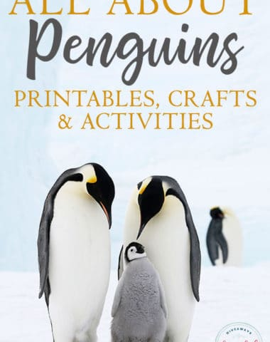 Are you studying penguins in your homeschool? These printables, crafts and activities would be a great addition to your studies. #penguins #homeschoolers #homeschooling #printables