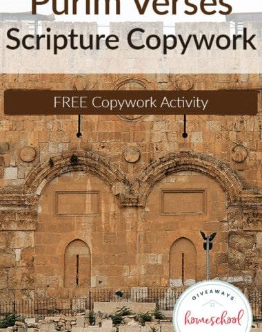 Purim-Verses-Copywork