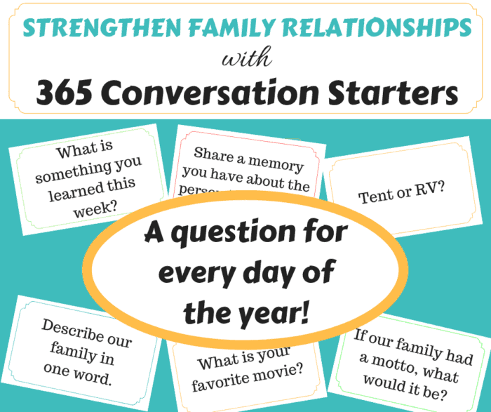 Make the most of family dinner time with conversation starters. #Family