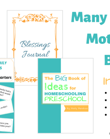 Sometimes we just need a little encouragement or a reminder to keep us going.Enter the Many Seasons of Motherhood Bundle. Every part of this bundle will encourage you and remind you that we are in this together! Enter now for your chance to win this bundle! (Giveaway ends April 15, 2019)
