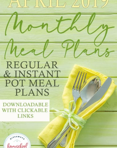 Spring is here and that means more time outside! But don't forget to set up your April Meal Plans! We have two downloadable meal plans to choose from or mix and match both for a fun and unique dish every night! #mealplan #mealplanning #mealplans #hsgiveaways