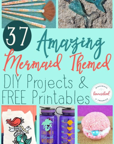 "Do you have a Mermaid fan in your house? They are sure to love these DIY projects and FREE Printables all about their beloved ""creatures"" of the sea. #mermaids #sealife #hsgiveaways #homeschoolers #DIY"