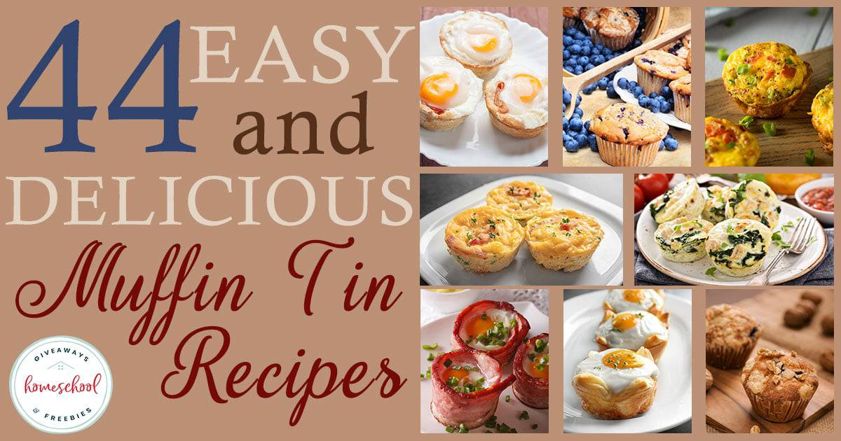Breakfast shouldn't be skipped, but it can often be the busiest time of day. Check out these Muffin Tin Breakfast Recipes that are not only easy, but delicious! Some can even be made ahead of time for a fun on-the-go meal! #breakfast #muffintin #recipes #hsgiveaways