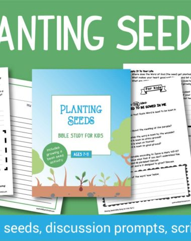 Parenting is HARD work! And making sure we plant the seeds of The Gospel is the most important work we can do as Christian parents. What better way to study the Bible than to get your kids talking about The Seed and the Sower parable. #Christianparenting #parents #Biblestudy #hsgiveaways