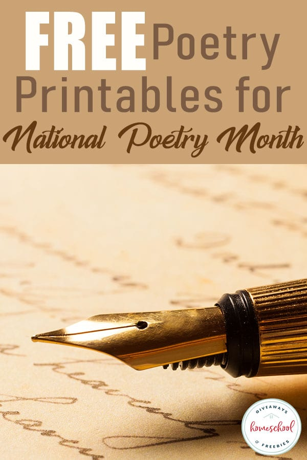 Adding poetry into your language arts learning doesn't have to be hard. With a few tips and a lot of FREE printables, you can easily create a wonderful poetry unit. #poetry #homeschoolers #hsgiveaways #homeschooling