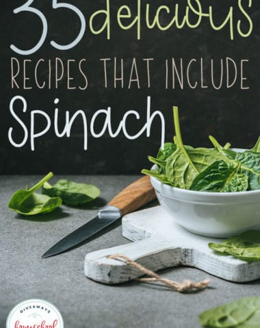 Spinach is a wonderful, healthy option to increase iron, potassium, calcium and a variety of vitamins in your diet. Check out these delicious and fun recipes to add to your rotation! #spinach #recipes #hsgiveaways #dinner
