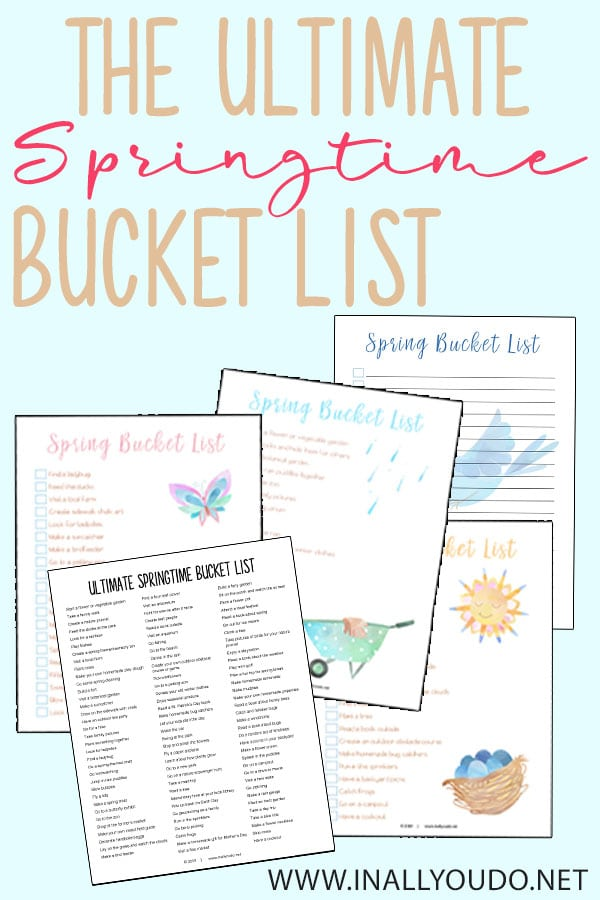 This pack includes the list of 102 items, a preschool themed bucket list, outdoor/nature themed bucket list and a Family themed bucket list,  as well as a blank page to create your own! Download yours FREE today! #bucketlist #family #hsgiveaways #homeschoolers