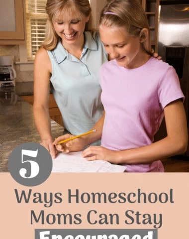 As homeschooling moms it's easy to become overwhelmed and discouraged. Find out how you can stay encouraged and able to give your family your very best. #homeschool #homeschooling #homeschoolmom