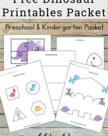 Preschool and Kindergarten Homeschooling Printables Archives