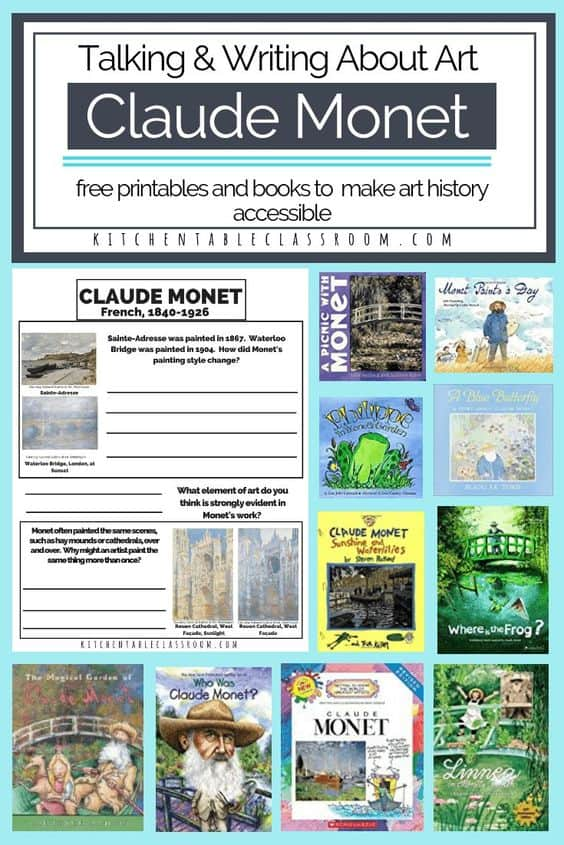 covers of Claude Monet books