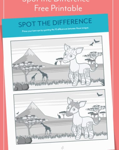 Spot the Difference - Free Printable