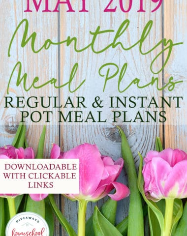 Whether you have a busy schedule, love the convenience of a meal plan or want to save money on your grocery budget, you'll love this month's meal plans. FREE Downloadable and printable menu plans with select slow cooker meals or all Instant Pot meals! #recipes #menuplan #mealplanning #hsgiveaways