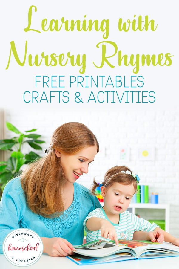 Nursery Rhymes aren't just for little kids! They are a great way to help pre-readers and early readers form a love of reading and solid foundation of important reading skills. Whether you use these free printables with each story or create a nursery rhyme unit study. #nurseryrhymes #mothergoose #mothergooseday #hsgiveaways