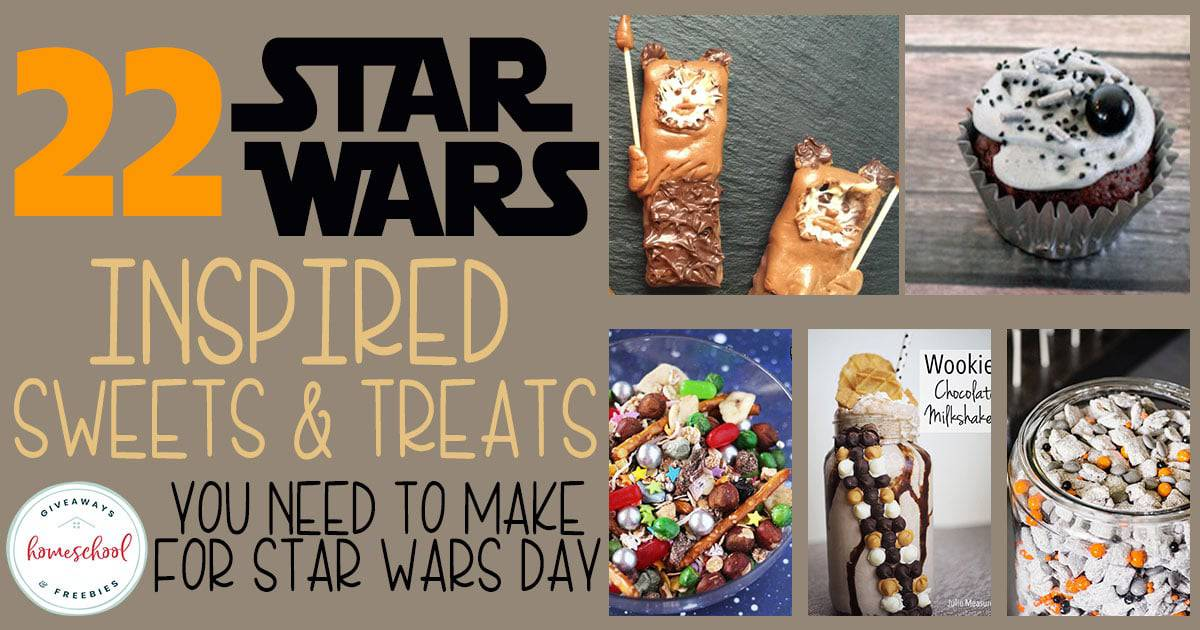 If you have Star Wars fans in your house, they will love creating and eating these themed sweets & treats. They're perfect for Star Wars Day, May 4th or anytime you're watching the movies! #StarWars #May4th #hsgiveaways #recipes