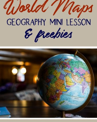 Even if you've been neglecting geography this year, here's a quick win for you! Enjoy this World Maps Geography Mini Lesson with freebies.