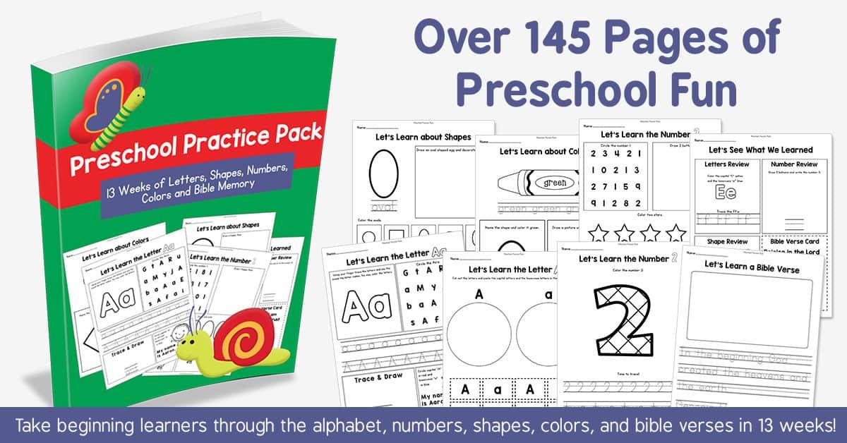 Preschool Practice Pack