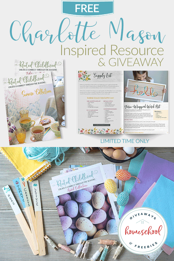 FREE Charlotte Mason Inspired Resource & Giveaway - Homeschool Giveaways