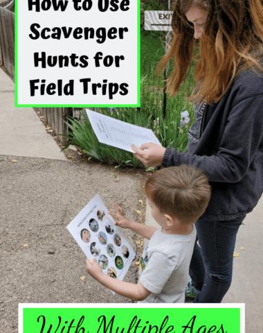 Make your school field trips even more fun with scavenger hunts. #multipleages #homeschool #fieldtripideas