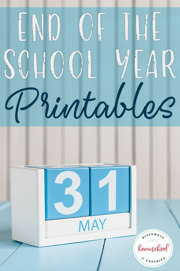 Are you wrapping up the end of your school year? Check out this list of end of the school year printables for your homeschool. #endofschoolyear #homeschoolyear