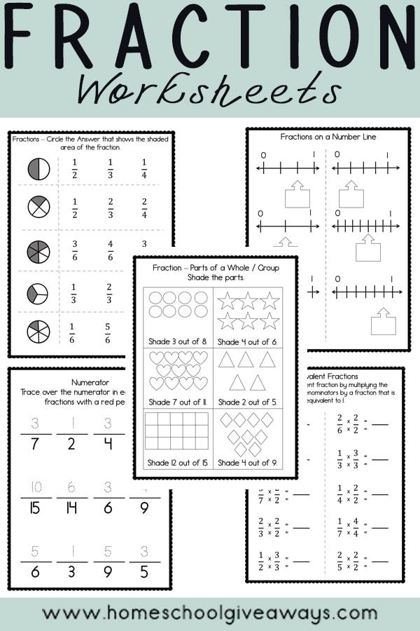 FREE Fraction Printables - Homeschool Giveaways