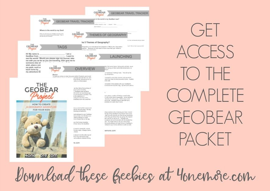 Are you looking for a fun, hands-on, engaging way to study geography as a family? Look no further! The GeoBear Project will help your kids travel the world this summer without actually leaving home.