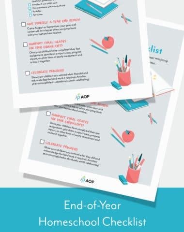 End-of-Year Homeschool Checklist